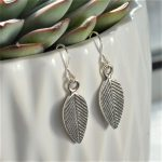 Fair trade, Fairly Traded, Fairly Traded Earrings, Earrings, slow fashion, ethical fashion, boho fashion, unusual jewellery, silver, fine silver, silver earrings, elegant earrings, handmade earrings, handmade silver, handcrafted, stamped silver, oxidised silver, jewellery, jewelry, women, jewellery for women, ethical jewellery, hill tribe silver, Karen jewellery, Karen jewelery, boho chic, bohemian fashion, free spirit jewellery, accessories, Ethical, Ethically made, Ethical fashion, ethical jewelry, tribal, tribal earrings, ethnic jewellery, ethnic jewelry, ilana leaf earrings, Ilana Leaf Earrings, leaf, leaves, leaf jewellery, leaf earrings