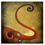 Elephant, Elephant Painting, Picture, artwork, art, elephant art, elephant image, elephants in art, box frame, boxframed art, original, quirky art, creative, colours, juicy colours, round shapes, ying yang, zen, harmony, sustainably produced, ethical , Kantu