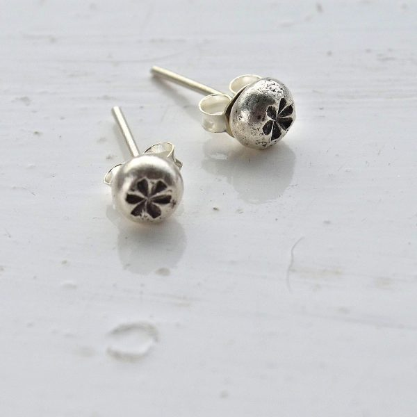 Serenity Stud Earrings, studs, stud earrings,Fair trade, Fairly Traded, Fairly Traded Earrings, Earrings, slow fashion, ethical fashion, boho fashion, unusual jewellery, silver, fine silver, silver earrings, elegant earrings, handmade earrings, handmade silver, handcrafted, stamped silver, oxidised silver, jewellery, jewelry, women, jewellery for women, ethical jewellery, hill tribe silver, Karen jewellery, Karen jewelery, boho chic, bohemian fashion, free spirit jewellery, accessories, Ethical, Ethically made, Ethical fashion, ethical jewelry, tribal, tribal earrings, ethnic jewellery, ethnic jewelry, inspired by nature,