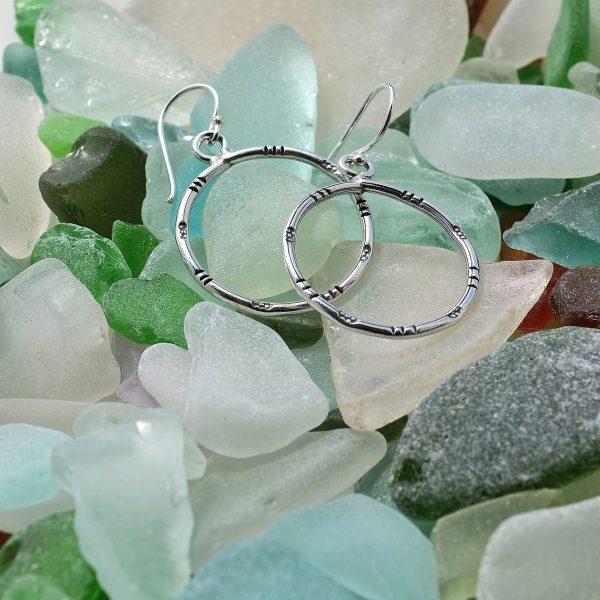 earrings, hoop, hoop earrings, round, silver, fine silver, fairly traded, ethical, jewellery, jewelry, slow fashion