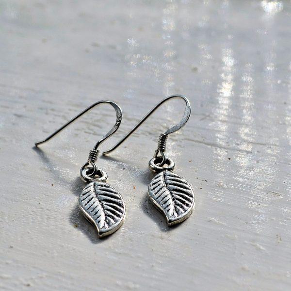 Dakota Leaf Earrings, nature inspired, leaf, leaves, leaf earrings, silver, fine silver, ethical, fairly traded