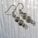 Celtic earrings, Double Erin Swirl Earrings, Erin, Swirl, Earrings, Fair Trade, Fairly Traded, Ethical jewellery, Fairly traded jewellery, Slow fashion, best sellers, ethical fashion, handmade, silver, hand crafted jewellery, fine silver, Karen hill tribe silver