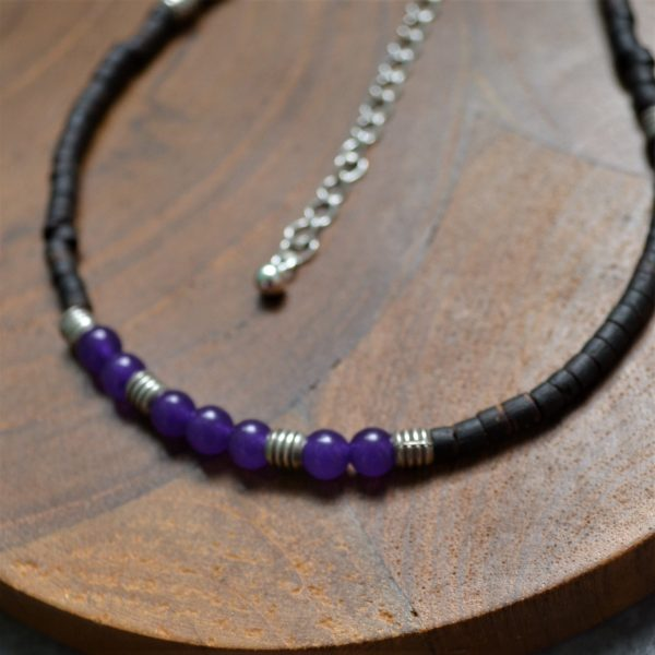 Gemstone Anklet,, Fair trade, Fairly Traded, Fairly Traded anklet, anklet, coconut wood anklet, beaded anklet, slow fashion, ethical fashion, boho fashion, unusual jewellery, fine silver, silver, handmade anklet, handmade silver, handcrafted, stamped silver, oxidised silver, jewellery, jewelry, women, jewellery for women, ethical jewellery, hill tribe silver, Karen jewellery, Karen jewelery, boho chic, bohemian fashion, free spirit jewellery, accessories, Ethical, Ethically made, Ethical fashion, ethical jewelry, beads, beaded anklet, gem stone anklet, chakra, chakra anklet, amethyst, amethyst anklet,