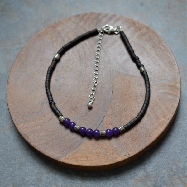 Gemstone Anklet,, Fair trade, Fairly Traded, Fairly Traded anklet, anklet, coconut wood anklet, beaded anklet, slow fashion, ethical fashion, boho fashion, unusual jewellery, fine silver, silver, handmade anklet, handmade silver, handcrafted, stamped silver, oxidised silver, jewellery, jewelry, women, jewellery for women, ethical jewellery, hill tribe silver, Karen jewellery, Karen jewelery, boho chic, bohemian fashion, free spirit jewellery, accessories, Ethical, Ethically made, Ethical fashion, ethical jewelry, beads, beaded anklet, gem stone anklet, chakra, chakra anklet