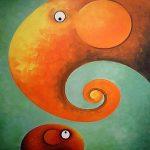 art, Art work, artwork, Box frame, boxframed art, colours, creative, Elephant, elephant art, elephant image, Elephant Painting, Elephants, elephants in art, Ethical, Fair Trade, fair trade art, fair trade pictures, harmony, juicy colours, original, Painting, Paintings, Picture, Pictures, Print, Prints, quirky art, round shapes, sustainably produced, wallart, ying yang, zen, Satsuma Song, Orange