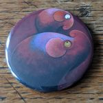 Elephant, artwork, art, elephant art, elephant image, elephants in art, original, quirky art, creative, colours, juicy colours, round shapes, ying yang, zen, harmony, sustainably produced, ethical, magnet, fridge magnet, magnetic, elephant magnet, hitchin a ride
