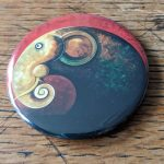 Elephant, artwork, art, elephant art, elephant image, elephants in art, original, quirky art, creative, colours, juicy colours, round shapes, ying yang, zen, harmony, sustainably produced, ethical, magnet, fridge magnet, magnetic, elephant magnet, humbug