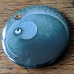 Elephant, artwork, art, elephant art, elephant image, elephants in art, original, quirky art, creative, colours, juicy colours, round shapes, ying yang, zen, harmony, sustainably produced, ethical, magnet, fridge magnet, magnetic, elephant magnet, Small Feathered Friend