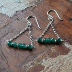 Fair trade, Fairly Traded, Fairly Traded Earrings, Earrings, slow fashion, ethical fashion, boho fashion, unusual jewellery, silver, fine silver, silver earrings, elegant earrings, handmade earrings, handmade silver, handcrafted, stamped silver, oxidised silver, jewellery, jewelry, women, jewellery for women, ethical jewellery, hill tribe silver, Karen jewellery, Karen jewelery, boho chic, bohemian fashion, free spirit jewellery, accessories, Ethical, Ethically made, Ethical fashion, ethical jewelry, tribal, tribal earrings, ethnic jewellery, ethnic jewelry, inspired by nature, gemstone earrings, semi-precious stones, birthstone jewellery, birthstone earrings, faceted stones, emerald, emerald quartz, green, green earrings, emerald quartz trapeze earrings, May, May birthstone, alternative birthstone
