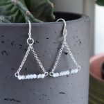 Fair trade, Fairly Traded, Fairly Traded Earrings, Earrings, slow fashion, ethical fashion, boho fashion, unusual jewellery, silver, fine silver, silver earrings, elegant earrings, handmade earrings, handmade silver, handcrafted, stamped silver, oxidised silver, jewellery, jewelry, women, jewellery for women, ethical jewellery, hill tribe silver, Karen jewellery, Karen jewelery, boho chic, bohemian fashion, free spirit jewellery, accessories, Ethical, Ethically made, Ethical fashion, ethical jewelry, tribal, tribal earrings, ethnic jewellery, ethnic jewelry, inspired by nature, gemstone earrings, semi-precious stones, birthstone jewellery, birthstone earrings, faceted stones, moonstone, moonstone earrings, moonstone trapeze earrings, June, June birthstone, birthstone gifts, birthstones